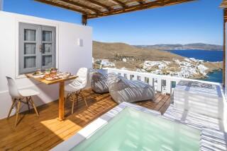 Honeymoon Suite N4 oneiro exterior hot tub