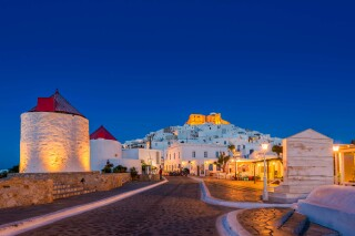 astypalaia chora by night oneiro suites