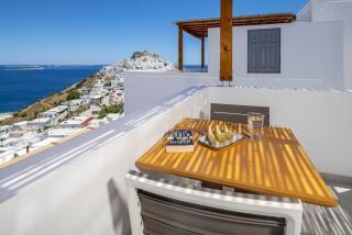 deluxe room oneiro suites sea view balcony